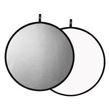 "32"" Light Reflector Silver/White Reversible Foldable Photo Studio Photography"