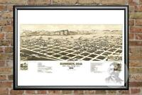 Old Map of Lancaster, NH from 1883 - Vintage New Hampshire Art, Historic Decor