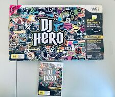 DJ Hero Nintendo Wii Boxed Complete With Turntable And Manuals
