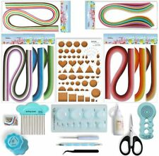 New listing Nice Quilling Kit Paper Filigree 960 Strips Glue Tools Complete Craft Set