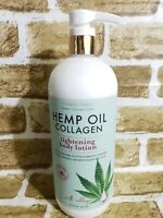NEW Pharm to Table Hemp Oil + Collagen Tightening Body Lotion (32 oz, USA Made)