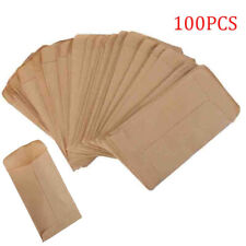 100pcs Kraft Paper Bags Cookie Candy Gift Protective Isolation  Package Decor #j