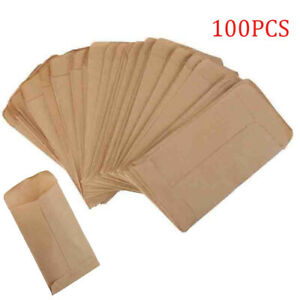 100x Kraft Paper Bags Cookie Candy Gift Protective Isolation Package Decor #j1