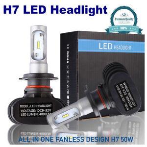 H7 Extremely Super Bright White 6500K LED Headlight Kit CSP LED Chips 50W 8000LM