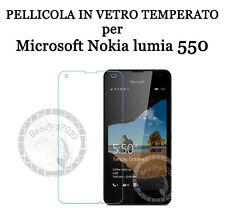 PELLICOLA IN VETRO TEMPERATO per Microsoft Nokia lumia 550 Proteggi Schermo