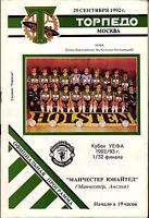 UEFA - EC III 92/93 Torpedo Moskau - Manchester United, 29.09.1992