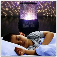 2 pc LED Starry Moon Night Sky Projector Lamp Kids Gift Star light Cosmos Master