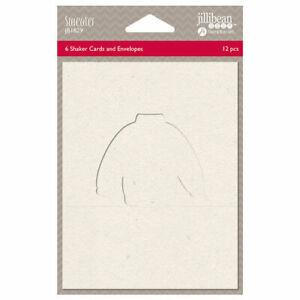 Jillibean Soup Cards 6 Pack Tacky Ugly Sweater w envelopes Shaker Hampton Art