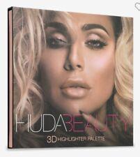 Huda Beauty 3D Highlighter Palette In Pink Sands MSRP $45 FULL SIZE