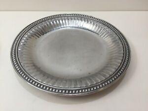 """Wilton Armetale Flutes & Pearls Aluminum Alloy Serving Tray Platter, 13 1/2"""" Dia"""