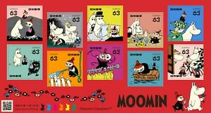 2021  JAPAN Moomin  63y 10 Complete  sheet  Unused