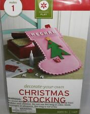 Christmas Decorate -Your-Own CHRISTMAS STOCKING  Pink