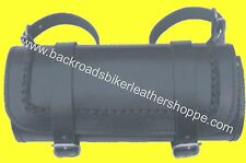LEATHER BRAIDED MOTORCYCLE TOOL BAG LARGE 12X5X5