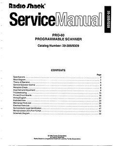 Radio Shack Pro-60 Service Manual * CDROM * PDF