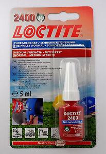 Loctite 2400 OEM Specified Medium Strength Thread Lock & Sealant-Stud/Nutlock