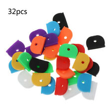 32Pcs Key Caps Tags Label Id Silicone Coding Color Key Identifier Cover 8 Colors