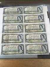 19  1954 $20 Dollar Bank of Canada note Devil's face a/e wow