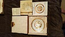 Hamilton Collection Japanese Floral Calendar Chokin Plates Complete Set Of 12