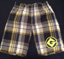 New Despicable Me Minion Made Plaid Shorts Size Kids XS (4/5) Blue Yellow White