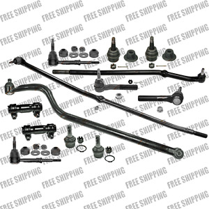 4WD Steering Rebuild Kit Front Ends Tie Rods  Ball Joints For  Dodge Ram 1500
