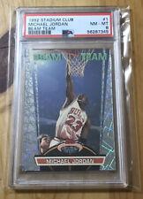 1992 STADIUM CLUB BASKETBALL BEAM TEAM #1 MICHAEL JORDAN PSA 8 NM-MT HOF BULLS