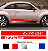 2 X BANDES DECO GT COX VOLKSWAGEN VW NEW BEETLE AUTOCOLLANT STICKER BD416