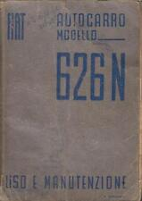 FIAT AUTOCARRO 626N WW2 TRUCK ORIG. 1940 USE & MAINTENANCE MANUAL (ITALIAN TEXT)