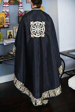 Orthodox priest vestments set. Embroidered. Black-Gold