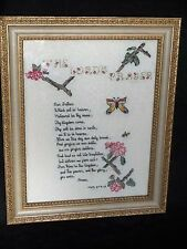 "Needle Point Professionally Matted & Framed ""Lord's Prayer"" 11"" x 14"" Vintage"