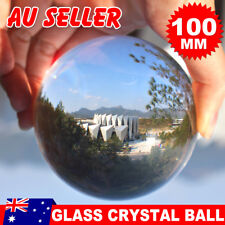 Glass Crystal Clear Ball Healing Sphere Photography Props Lensball Decor 100MM