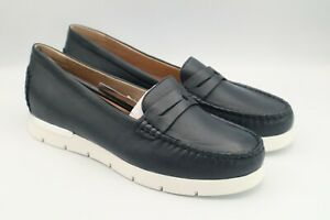 Womens Caprice Mokassin Loafers Blue - *Size Mismatch* left UK 6 1/2 UK right 6