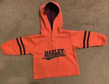 Harley Davidson 18M Baby Embroidered Orange Hoodie NICE