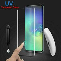 UV Glue Liquid Tempered Glass Screen Protector Samsung Note10 Pro Plus S10 Plus+