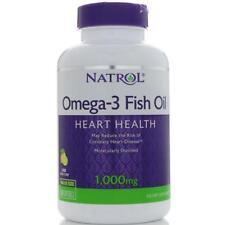 Natrol, Omega-3 Fish Oil, Natural Lemon Flavor, 1,000 mg, 150 Softgels