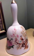 Beautiful Vintage Bird Pattern Ceramic Collectors Bell