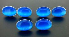 Cat Eye Blue Cufflinks 25x18 MM Shirt Cuff Links PRETTY COLOR BLUE!