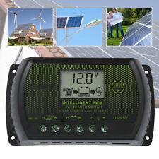 30A 12V-24V Solar Panel Regulator Charge Controller USB + Anderson Plugs