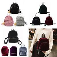 Women Backpack Velvet Shoulder Bags Handbag Travel Rucksack Schoolbags Bookbags