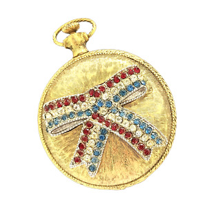 Max Factor 1970s Faux Pocket Watch Powder Compact
