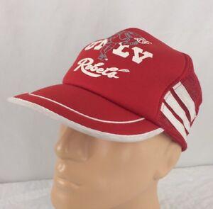 Vtg UNLV Runnin Rebels Snapback Trucker Hat Side Stripe Shark Jerry Tarkanian