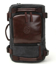 Mens Canvas Vintage Travel School Backpack Rucksack Laptop Satchel Shoulder Bag