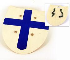 Gioco Armi: Scudo di legno crociato blu per bambini Toy Wood Shield