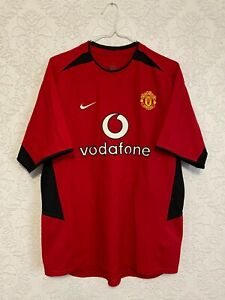 Manchester United Man U 2002 2004 Home Red Football Nike Shirt Jersey Top Size M
