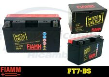 FT7-BS BATTERIA MOTO FIAMM MOTOR ENERGY YUASA YT7B-BS 6,5 Ah 75 A  + LIQUIDO