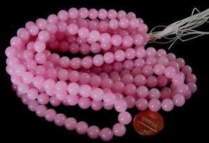 Vintage 8mm Pink Glass Beads Japan 30