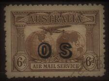 AUSTRALIA 1931 AIRMAIL OS 6D USED