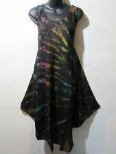Dress Fits 1X 2X 3X Plus Sundress Tunic Black Purple Green A Shaped NWT 748 B