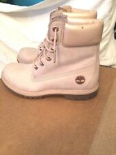 """Timberland Premium Pink Suede Leather 7"""" High Hiking Boots Size 7.5M"""