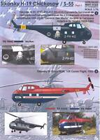 Print Scale Decals 1/72 SIKORSKY H19 & S-55 CHICKASAW Helicopter Part 1