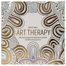 60 DESIGNS ADULT ART THERAPY COLOURING BOOK MINDFULNESS ANTI-STRESS PAD